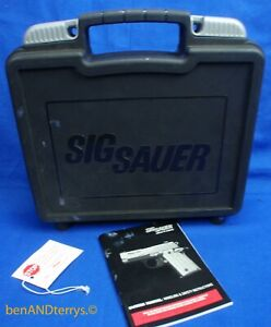 Sig Sauer P238 Factory Hard Plastic EMPTY Pistol Case with Manual