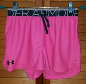 Girls Under Armour Heat Gear Athletic Loose Fit Shorts YLG Large Gym Pink