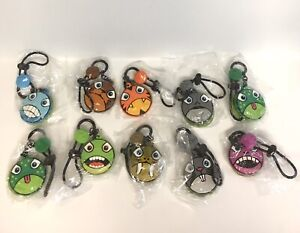 Zippies Series 1  Water Bottle / Backpack Child ID Tags Lot Of 10 Party Favors