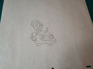 Walt Disney Scrooge McDuck Original Production Pencil Sketch Drawing $50.00