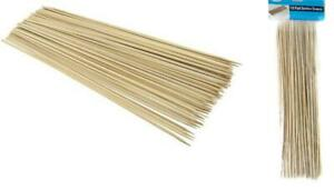 100 Bamboo Skewers 12 Inch Wood Wooden Sticks BBQ Shish Kabob Fondue Party Grill