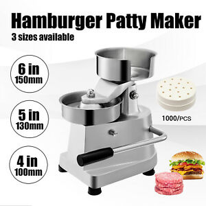 Manual Hamburger Meat Press Burger Patty Machine Maker Diameter 130mm Heavy Duty