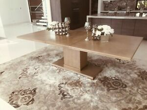 Beautiful Wood Dining Table Fits 6-8 Chairs