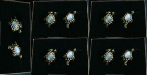 5 Boxes Jay Strongwater 10 Crystal Multi Gold Plated Turtle Napkin Rings