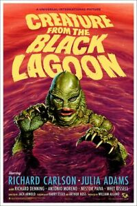 MONDO x Jason Edmiston CREATURE FROM THE BLACK LAGOON Variant poster print /150