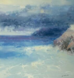 Pacific Coast Seascape oil painting Large Size One of a kind