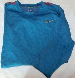 Men's Nike Ultimate Dri-Fit Seamless LS Blue Force Shirt Size XL