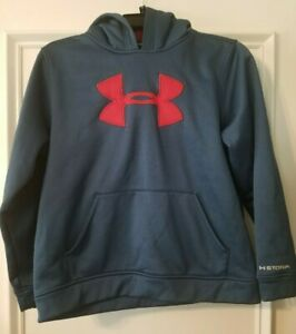 Boys Navy Under Armour Hoodie Size Youth Large YLG