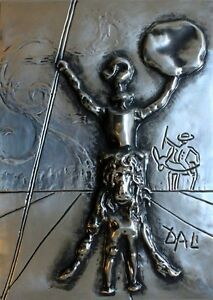 Salvador Dali quot;Don Quixotequot; bronze sculpture museumy framed hansomely grt invest $2950.00