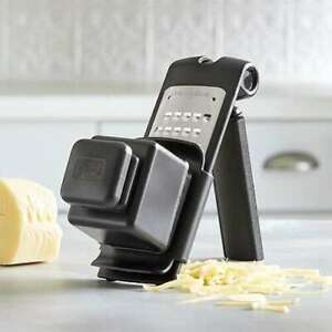 FREE SHIPPING MICROPLANE® ADJUSTABLE COARSE GRATER WITH FOOD HOLDER