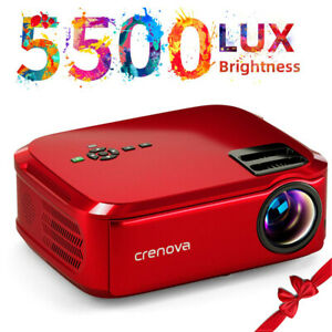 Crenova Full HD 5500 Lux Projector Work with TV StickPCPhone for Home Theater