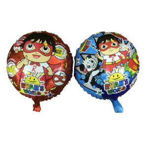 Double Sided RYAN'S WORLD Birthday Party Foil Balloons.