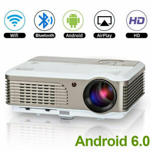 1080P Android Projector 4200lm Wifi Bluetooth Home Cinema Video Game Party HDMI