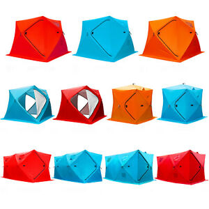 Ice Fishing Shelter Tent Portable House Fish Equipment W Carry Bag For 2 4 8 P