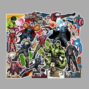 50pcs/Lot Marvel Super Heroes Vinyl Stickers for Skateboard/Luggage/Laptop/Gift