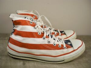 Vintage Converse All Star Shoes Men's Size 9.5 Stars Stripes Made in USA Kicks