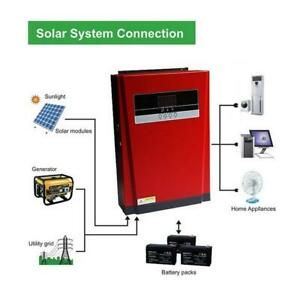 5000W Pure Sine Wave Solar Hybrid Inverter 80A Solar and AC All in One Max 4000W