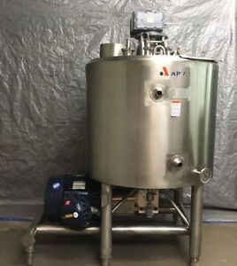 300 Gallon APV Likwifier Jacketed 75PSI with Scrape Surface Mixer