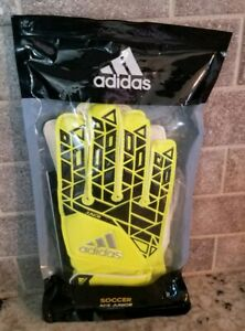 Adidas Soccer Ace Junior Gloves Positive Cut sz 4 Soft Grip Protect New Opened $8.74