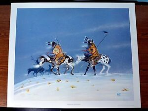 RANCE HOOD quot;Warriors Returningquot; Hand signed lithograph $79.00