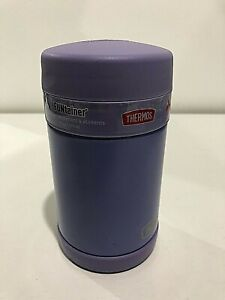NEW Thermos FUNtainer Purple Food Jar with Spoon - 16 OZ