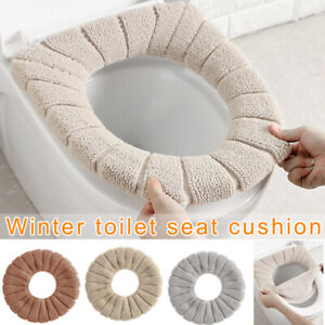 Bathroom Toilet Seat Cushion Closestool Washable Soft Warmer Mat Cover Pad