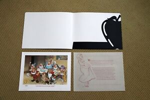 Walt Disney SNOW WHITE and the SEVEN DWARFS Commemorative NUMBERED LITHOGRAPH