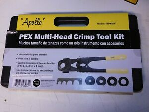 Apollo PEX 69PTKH0015K  Multi-Head Crimp Tool Kit (38 - 12 - 34 -1 inch)