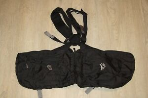 RIBZ Front Pack - Black - Survival Hiking Hunting Backpacking