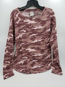 NWT Victoria#x27;s Secret PINK Camouflage Thermal Shirt XS L