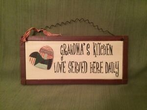 GRANDMA#x27;S KITCHEN LOVE SERVED HERE DAILY SIGN