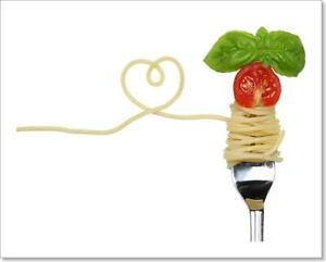 Spaghetti Noodles Pasta Meal With Heart On Art Print Home Decor Wall Art Poster