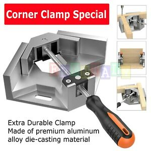 Aluminium Single Handle 90 Degree Right Angle Clamp Photo Frame Corner Clip USA $13.99