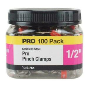 Apollo 1/2 in. Stainless Steel PEX Barb Pro Pinch Clamp Jar (100-Pack)