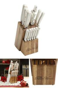 Stainless Steel W. Cowboy Rustic Cutlery Forged Kitchen Block Knife  Set 14pcs