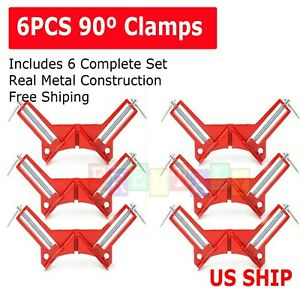 4X 90°Degree Right Angle Picture Frame Corner Clamp Holder Woodworking Hand Kit $14.95
