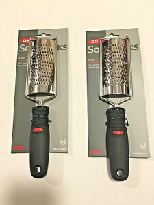 2pk OXO Soft Works Grater Kitchen Stainless Steel Soft Non Slip Grip Fine Zester