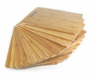 Bulk Plain Bamboo Cutting Board Set of 12 For Customized Engraving Gifts