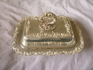 ANTIQUE VINTAGE QUEEN VICTORIA STERLING SILVER TRAY