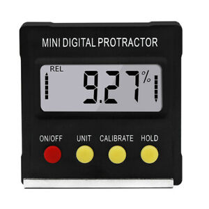 Magnetic Digital Protractor Angle Finder Bevel Level Box Inclinometer Meter Grac $16.14