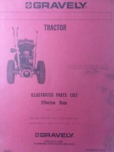 Gravely L Swiftamatic Walk Behind Lawn Garden Tractor Parts Manual 1963 hp 6.6