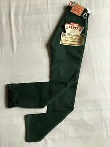 Levi Vintage Clothing Big E 1967 Pre Shrunk 505 Jeans Green