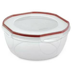 Sterilite Plastic Food Storage Container 0395 Ultra-Seal 8.1 Qt. Bowl New Clear