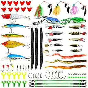 Apusale Fishing Lures Kit Bass Baits Tackle-Including Crankbaits Spinnerbaits