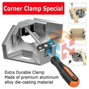 Aluminium Single Handle 90 Degree Right Angle Clamp Photo Frame Corner Clip USA $14.25