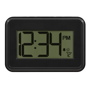 513-113 La Crosse Technology Digital Wall Clock with IN Temperature