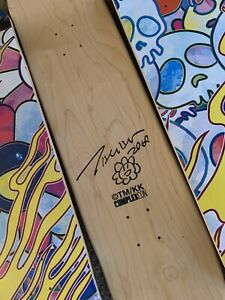 SIGNED TAKASHI MURAKAMI  2018 COMPLEXCON EXCLUSIVE FLAMING SKULL SKATE DECK SET