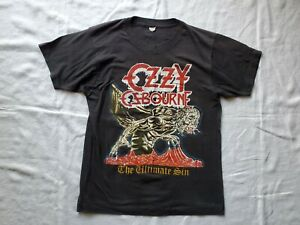 Rare Vtg Ozzy Osbourne Metallica Ultimate Sin Metal Up Your Ass Tour Shirt