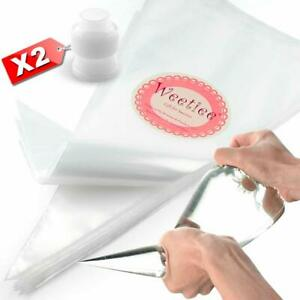 Weetiee Pastry Piping Bags -100 Pack-12-Inch Disposable Cake Decorating Bags