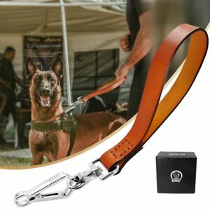 Leash Quick Control Dog Real Leather Dogs Walking Lead Rope Heavy Duty Pet